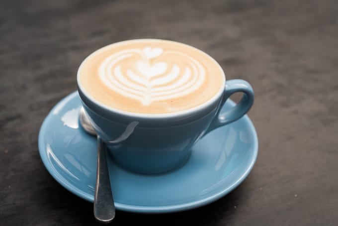 A beautiful and tasty cappuccino by Salvage Specialty Coffee