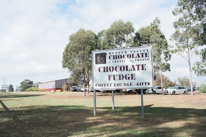 Zepher Tours second stop was The Hunter Valley Chocolate