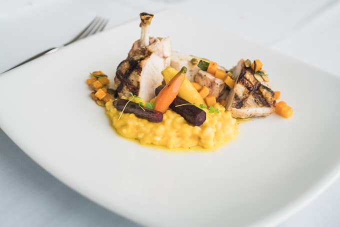 Risotto of pumpkin with free range chicken part of Zepher Tours lunch