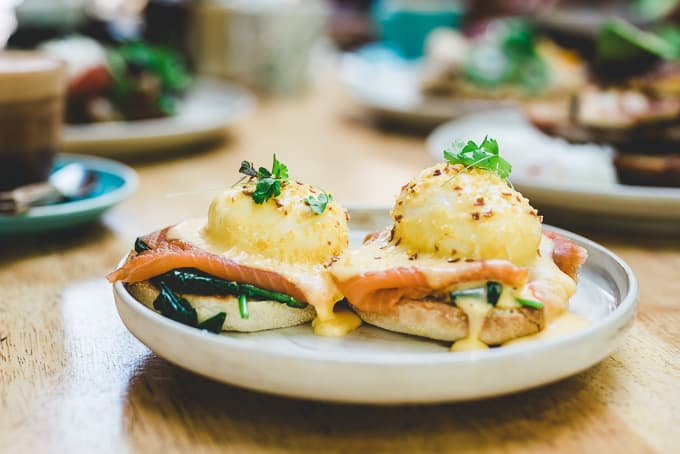 Eggs Benedict Blackbird & Co. Cafe Erskineville Sydney
