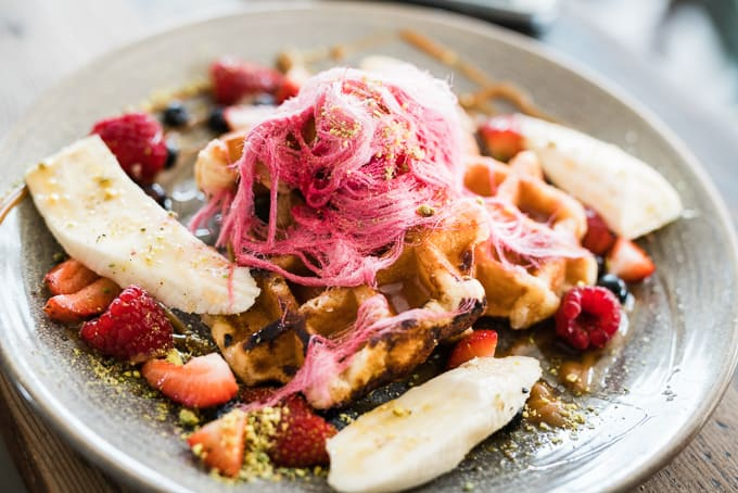 Belgian Waffles at The Tiny Giant Petersham