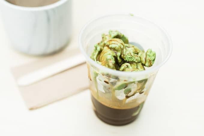 green tea affogato at Bao Shop