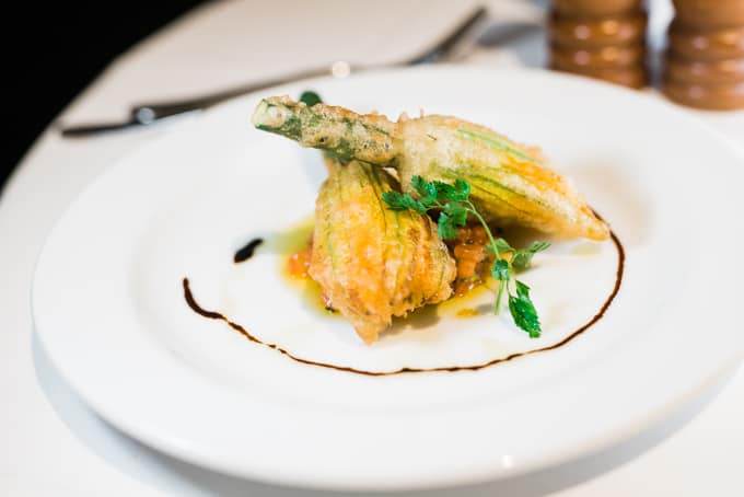 Machiavelli Stuffed Zucchini Flowers