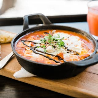 Baked eggs at Badmanner Thymes Parramatta