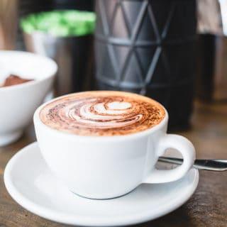 Flat white at Caffeine Villains
