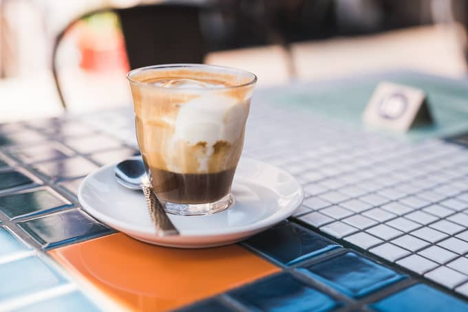 A decadent affogato at The Mews