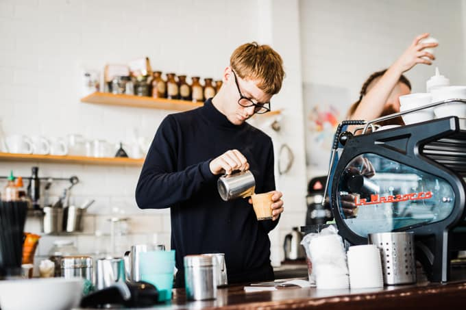 Crafting a great latte at Frothers Espresso
