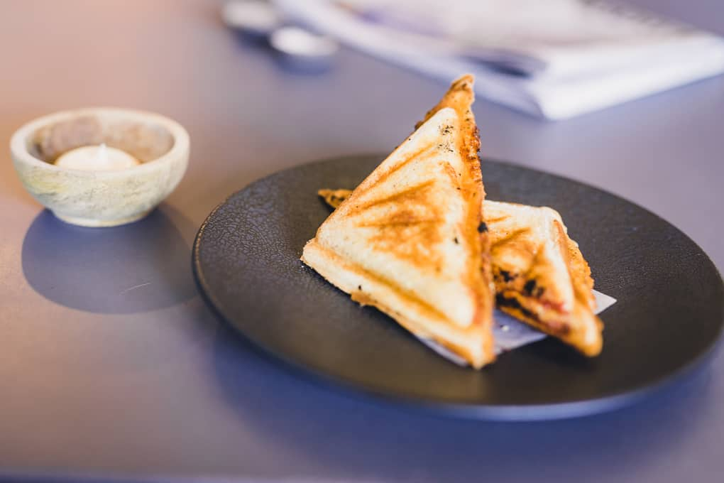 Pizza Jaffle at Intra Coffee
