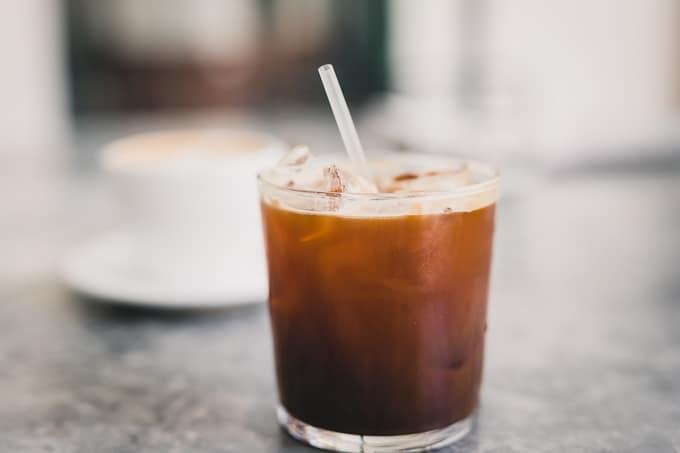 Iced long black at Morning Glory New Acton