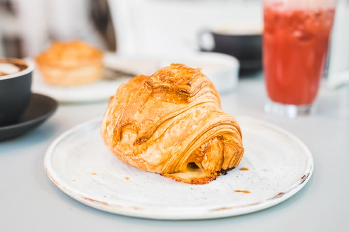 Beautiful bulbous croissant at Three Mills Canberra
