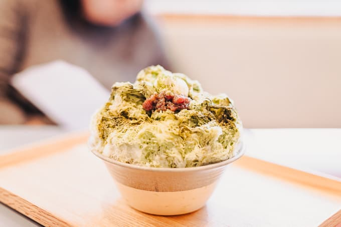 Matcha Kakigori at Dopa by Devon