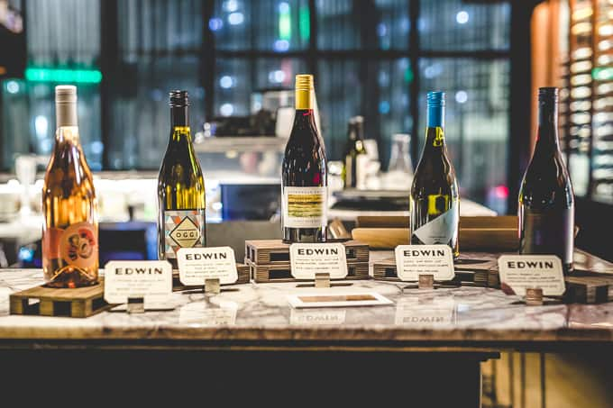 Victorian wines at Edwin Wine Bar & Cellar South Melbourne