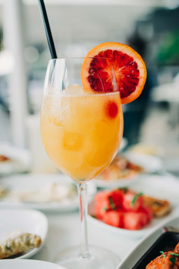 Sweet Many is a refreshing house mocktail at Georges Mediterranean Bar and Grill
