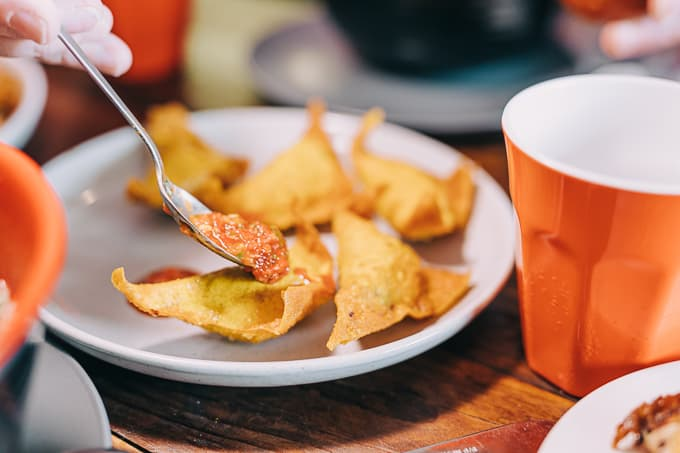 Fried wantons are pockets filled with flavour