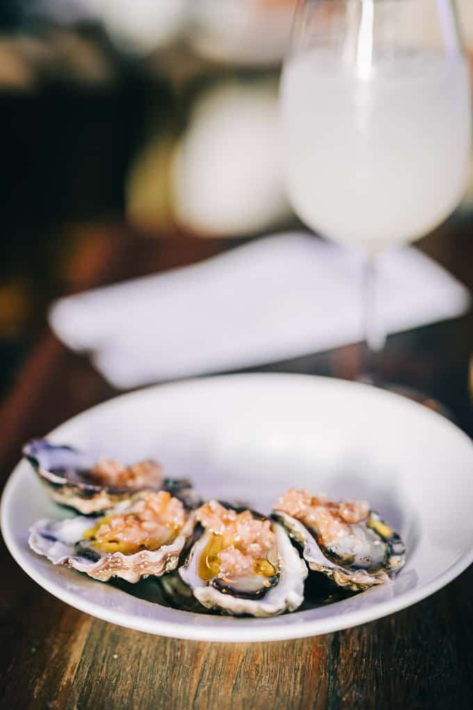 Rock Oysters with a touch of spice at Lankan Filling Station