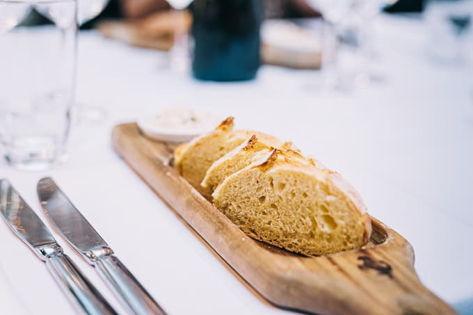 Quality bread with Ciabatta Altamura with ricotta is perfection