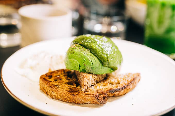 Pretty smashed avo on toast at Common Epping